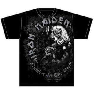 IRON MAIDEN Number of the Beast Grey Tone, Tシャツ
