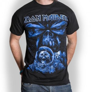 IRON MAIDEN Final Frontier Blue Album Spaceman, Tシャツ