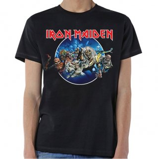 IRON MAIDEN Wasted Years Circle, Tシャツ