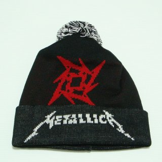 METALLICA Glitch Star Logo Black, ニットキャップ