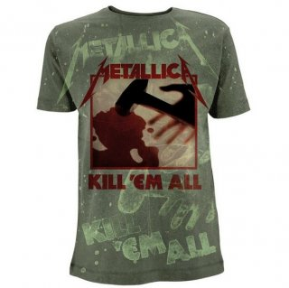 METALLICA Kill Em All A/O Olive Green, Tシャツ