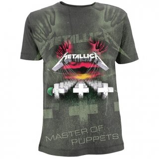 METALLICA Master Of Puppets A/O Charcoal, Tシャツ