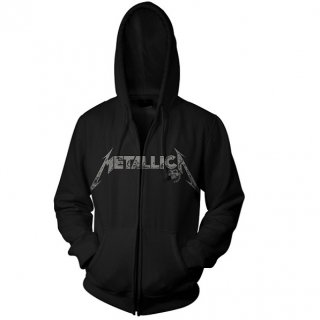 METALLICA Phantom Lord Black, Zip-Upパーカー