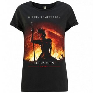 WITHIN TEMPTATION Let Us Burn Cover, レディースTシャツ