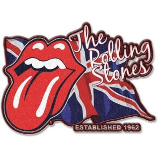 THE ROLLING STONES Lick The Flag With Iron On Finish, パッチ