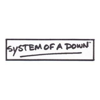SYSTEM OF A DOWN Logo Black, パッチ