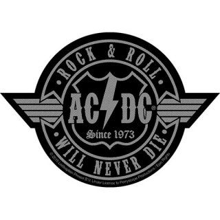 AC/DC Rock N Roll WILL Never Die Cut-Out, パッチ