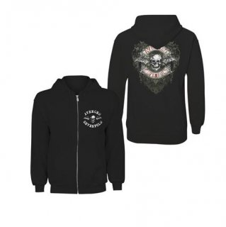 AVENGED SEVENFOLD Logo Flourish with Back Printing, Zip-Upパーカー