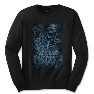 AVENGED SEVENFOLD Chained Skeleton, ロングTシャツ