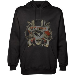 GUNS N' ROSES Distressed Skull, パーカー