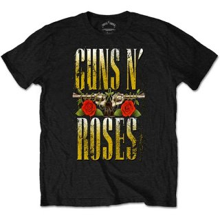 GUNS N' ROSES Big Guns Black, Tシャツ