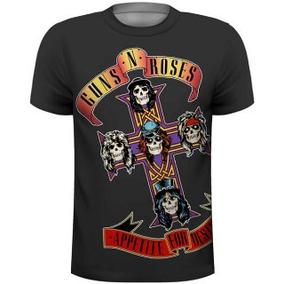 GUNS N' ROSES Appetite with Sublimation Printing, Tシャツ