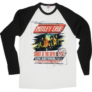 MOTLEY CRUE Shout at the Devil Tour Poster, ラグランロングTシャツ