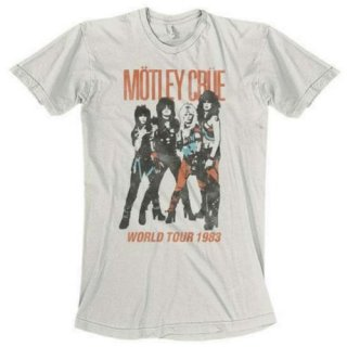 MOTLEY CRUE Vintage World Tour/white, Tシャツ