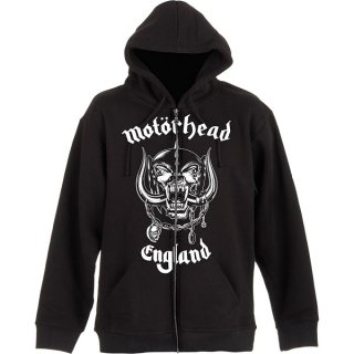 MOTORHEAD England with Back Printing, Zip-Upパーカー