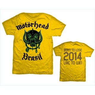 MOTORHEAD World Cup Brazil with Back Printing, Tシャツ