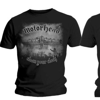 MOTORHEAD Clean Your Clock B&W with Back Printing, Tシャツ