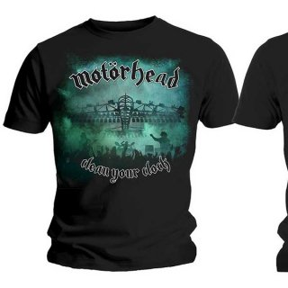 MOTORHEAD Clean Your Clock Green with Back Printing, Tシャツ
