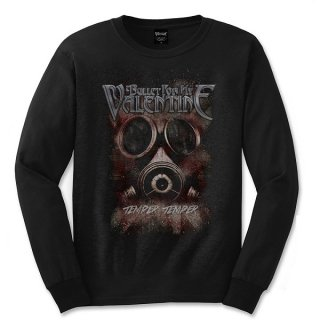 BULLET FOR MY VALENTINE Temper Temper Gas Mask, ロングTシャツ