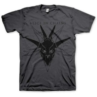 ALICE IN CHAINS Black Skull, Tシャツ