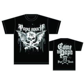 PAPA ROACH Crossbones Drips With Back Printing, Tシャツ