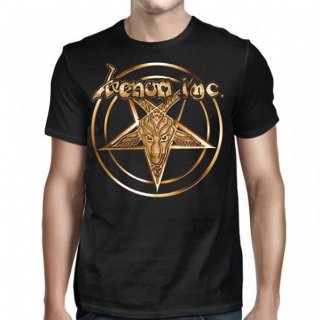 VENOM INC Pentagram Gold Logo, Tシャツ