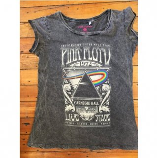 PINK FLOYD Carnegie Hall Poster With Acid Wash Finish, レディースTシャツ