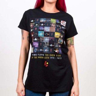 PINK FLOYD Dark Side Of The Moon 1973-2013, レディースTシャツ