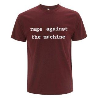 RAGE AGAINST THE MACHINE Logo Molotov Maroon, Tシャツ