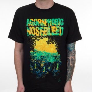 AGORAPHOBIC NOSEBLEED Burning Coffin, Tシャツ