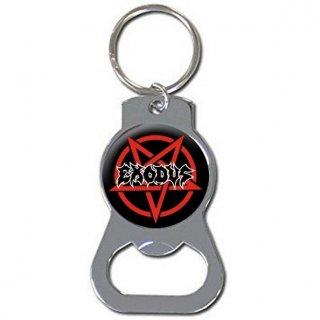 EXODUS Pentagram Logo Silver, キーホルダー