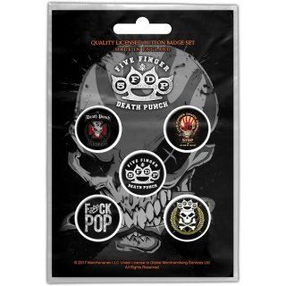 FIVE FINGER DEATH PUNCH Logos, バッジセット