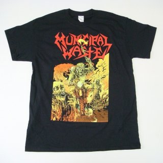 MUNICIPAL WASTE Road Rager Red Circle Logo, Tシャツ