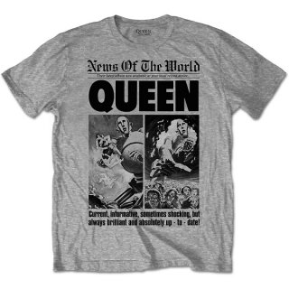 QUEEN News Of The World 40th Front Page, Tシャツ