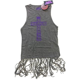 BLACK SABBATH Vintage Cross With Tassels, タンクトップ(レディース)