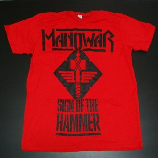 MANOWAR Sign Of The Hammer/red, Tシャツ