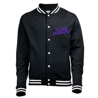 BLACK SABBATH Wavy Logo With Back Printing, バーシティジャケット