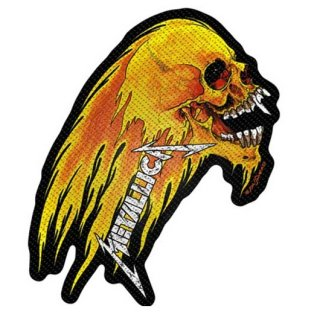 METALLICA Flaming Skull Cut-Out, パッチ