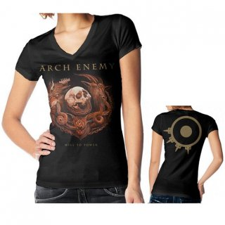 ARCH ENEMY Will To Power Album Cover, レディースTシャツ
