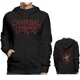 CANNIBAL CORPSE Red Before Black, Zip-Upパーカー