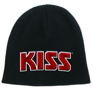 KISS Red On White Logo, ニットキャップ