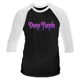 DEEP PURPLE Logo, ラグラン七分袖シャツ