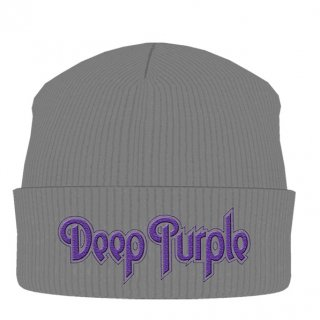 DEEP PURPLE Logo Grey, ニットキャップ
