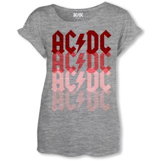 AC/DC Logo Fade, レディースTシャツ