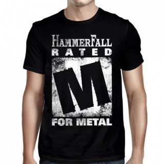 HAMMERFALL Rated M Black, Tシャツ