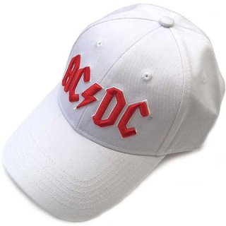 AC/DC Red Logo (White), キャップ