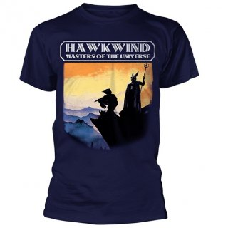 HAWKWIND Masters Of The Universe (Navy), Tシャツ