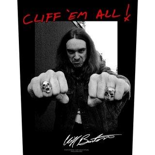 METALLICA Cliff 'Em All!, バックパッチ