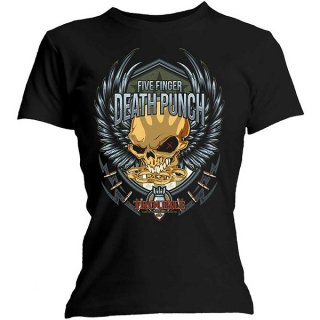 FIVE FINGER DEATH PUNCH Trouble, レディースTシャツ
