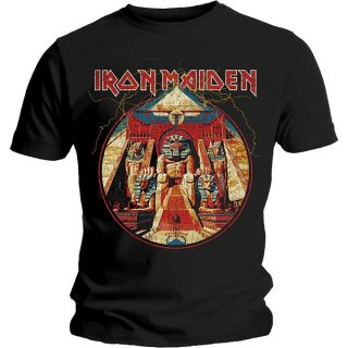 IRON MAIDEN Powerslave Lightning Circle, Tシャツ